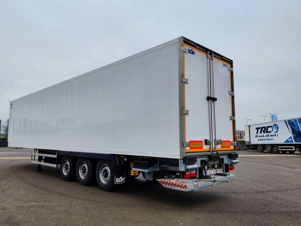 SOR koeltrailer - Dhollandia laadlift